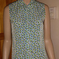 Vintage Gap Sleeveless 4 Leaf Clover Button Down Top Size M Photo