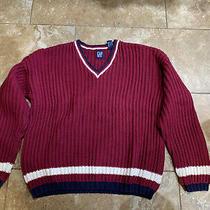 Vintage Gap Sweater v Neck Burgandy Size S Photo