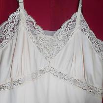 Vintage Gaymode Lace Trim Gathers Bodice Blush Nylon Full Slip Lingerie 36 Photo