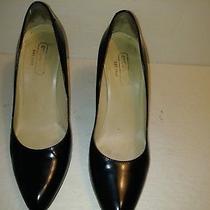 Vintage Gennie Black Coach 3.5 Inch Heel Pumps Classic Leather Shoes 7.5 Photo