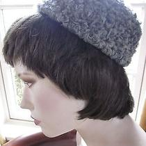 Vintage Genuine Gray Curly Lamb Amy New Yok Pill Box Hat Photo