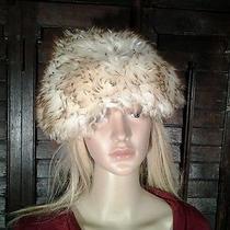 Vintage Genuine Tuscan Lamb Skin Fur Hat Made in Italy Arctic White Mod Photo