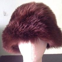 Vintage Genuine Tuscan Lamb Skin Fur Hat Made in Italy Brown Photo