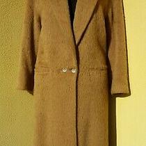 Vintage Gianni Versace Alpaca Dress Coat Suede Collar Size 6 / 8 It 40 Euc Photo