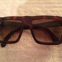 Vintage Gianni Versace Basix Sunglasses Tortise Rhinestones 1980s Photo