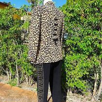 Vintage Gianni Versace Couture 1992 Silk Leopard Print Blazer W/ Bow Application Photo