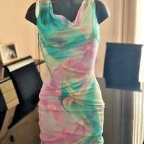 Vintage Gianni Versace Couture Floral Dress Size 38 Photo