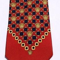Vintage  Gianni Versace Necktie 100% Authentic Made in Italy Mint Condition Photo