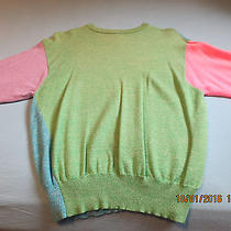 Vintage Gianni Versace Sweater Color Block Wool Size 44 I Purple Pink Green Blue Photo