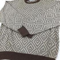 Vintage Giorgio Armani 1970's 80's Geometric Sweater Mens Large Silk / Cotton Photo
