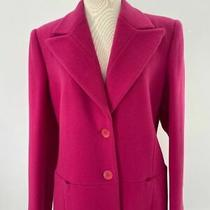 Vintage Giorgio Armani Taglia Women Fuchsia Coat 95% Cashmere 5 Wool Photo