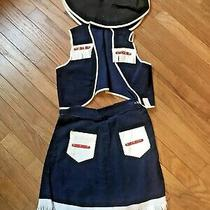 Vintage Girl's Annie Oakley Dark Blue & White Cow Girl Costume With Hat Photo