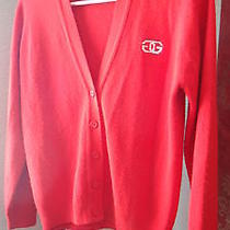 Vintage Givenchy Cardigan Button Down Sweater. Color Bright Red. Size 36 Photo
