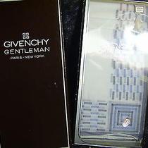 Vintage Givenchy Gentleman Paris New York Set of 3 Mens Handkerchiefs New in Box Photo