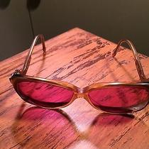 Vintage Givenchy Pink Beige Boho Drop Temple Prescription Sunglasses 1970's Photo