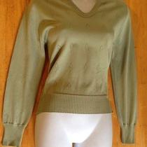 Vintage Givenchy Sport Sage Green Signature Sweater 34 Photo