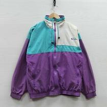 Vintage Givenchy Windbreaker Light Jacket Size Medium Purple Teal 90s Photo