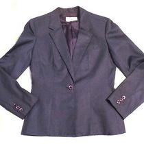 Vintage Gloria Vanderbilt Cotton Blend Blue Blazer Size 6 Photo