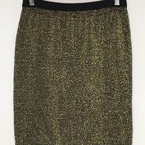 Vintage Gold Glitter Stretchy Skirt by Creation Camilla Size 10 / 12 Christmas  Photo