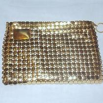 Vintage Gold Plated Ring Mesh Whiting & Davis Ladies Clutch Handbag Photo