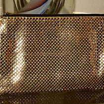 Vintage Gold Tone Mesh Whiting & Davis Zippered Purse for Money-Credit Cards.... Photo