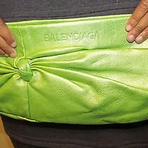 Vintage Green Balenciaga Clutch Photo