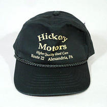 Vintage Green Hickory Motors Baseball Hat/cap Adjustable Button Strap Photo