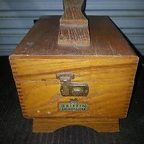 Vintage Griffin Wood Shoe Shine Box  Photo