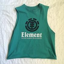 Vintage Grunge Cropped Green Muscle Tank Element Distressed Size Xs S Small Photo