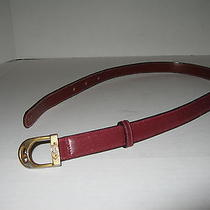 Vintage Gucci Belt Xs Size 24 in Maroon Leather Photo