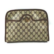 Vintage Gucci Clutch  Light Brown Pvc 1715082 Photo