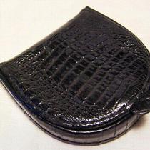 Vintage Gucci Coin Purse/1930s Liftboy Logo/black Alligator Leather  Photo
