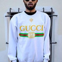 Vintage Gucci Crewneck Rare Deadstock White Xl Kanye Supreme Hip Hop Rap Classic Photo