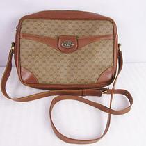 Vintage Gucci Crossbody Brown Mongram Bag 80s Camera Photo