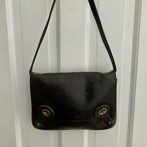 Vintage Gucci Dark Brown/black Double Lock Calf Leather Shoulder Bag Italy Nr Photo