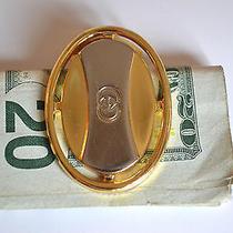 Vintage Gucci Gold & Silver Plated Money Bill Clip W/ Box Photo