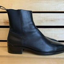 Vintage Gucci Men Shoes Black Leather Chealsea Boots sz.41.5 E Photo