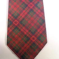 Vintage Gucci Mens Tie Beautiful Red Green Plaid Photo