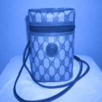Vintage Gucci Navy Blue Signature Camera Case or Bucket Purse  Photo