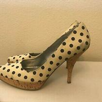 Vintage Guess by Marciano White/blk Polka Dot High Heal Pump Sz 7 Photo