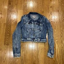Vintage Guess Denim Jacket Original Design Size Small Womens Cropped 90s 00s Photo