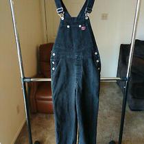 Vintage Guess Denim Womens Medium Black Overall Bibs 39773 Jumpsuit Jumper Jeans Photo