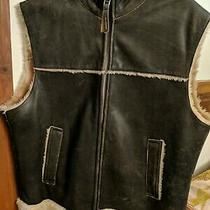 Vintage Guess for Mens Genuine Leather Vest Size L Georges Marciano Photo