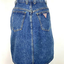 Vintage Guess Georges Marciano Denim Skirt High Rise Made Usa Sz 30 (Runs Small) Photo
