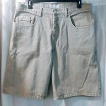 Vintage Guess Georges Marciano Design Gray Denim Shorts Sz 38 Made in Usa Photo