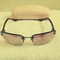 Vintage Guess Gu252 Pink Denim Sunglasses With Juicy Couture Case Awesome Photo