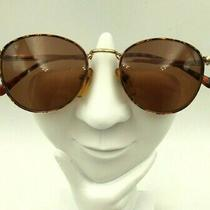 Vintage Guess Gu300 Tortoise Gold Metal Oval Sunglasses Korea Frames Only Photo