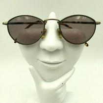 Vintage Guess Gu373 Brown Gold Metal Oval Sunglasses Hong Kong Frames Only Photo