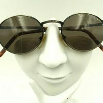Vintage Guess Gu704 Antique Gold Metal Oval Sunglasses Frames Hong Kong Photo