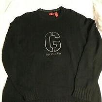Vintage Guess Jeans Black Crew Neck Sweater Size Xl Photo